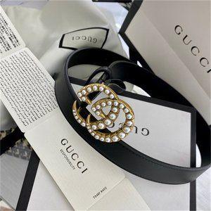 🌟NWT Fashion Pearl Belt 85CM By Gucci~